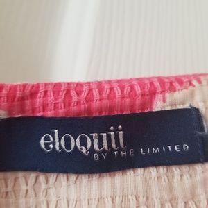 Eloquii Dresses - Eloquii Pink Chevron Dress